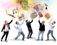 Os instrumentos dos músicos imagem de stock royalty free