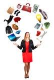 Os interesses das mulheres Compromissos, paixões e desejos da mulher imagens de stock