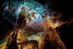 Os interiores de Kumistavi cavam, sabido como a caverna do PROMETHEUS, uma de maravilhas naturais do ` s de Geórgia Fotos de Stock