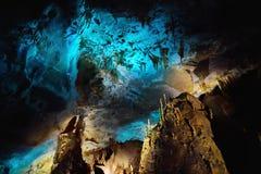 Os interiores de Kumistavi cavam, sabido como a caverna do PROMETHEUS, uma de maravilhas naturais do ` s de Geórgia Foto de Stock Royalty Free