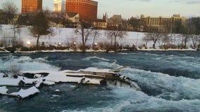 Os invernos da queda de Niagara Fotografia de Stock