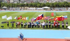Os júniors do atletismo de ECCC agrupam A imagens de stock royalty free