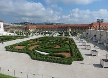 Os jardins barrocos no castelo estacionam em Bratislava Foto de Stock Royalty Free