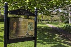Os jardins das videiras em Rochester, Reino Unido Fotos de Stock