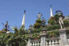 Os jardins do palácio de Borromeo em Stresa Fotografia de Stock