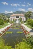 Os jardins e a Casa de campo Ephrussi de Rothschild, Saint-Jean-tampão-Ferrat, França imagem de stock royalty free