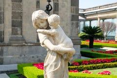 Os jardins no alcazar sobre Chapultepec fortificam em Cidade do México Imagens de Stock