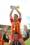 Os jogadores de Bucuresti exultam foto de stock royalty free
