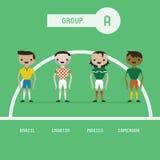 Os jogadores de futebol agrupam A ilustração royalty free