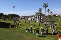 Os jogadores no golfe de Andalucia abrem, Marbella Fotografia de Stock