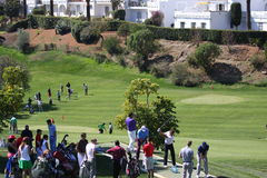 Os jogadores no golfe de Andalucia abrem, Marbella Fotos de Stock Royalty Free