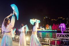 Os Jogos Asiáticos Guangzhou 2010 China fotografia de stock