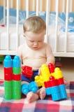 Os jogos do bebê com conectam Imagens de Stock Royalty Free