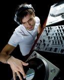 Os jogos do DJ ajustaram i Fotos de Stock