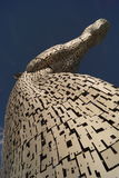 Os Kelpies, cabeças de cavalos gigantes, Falkirk, Escócia Foto de Stock Royalty Free