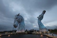 Os Kelpies Falkirk Foto de Stock