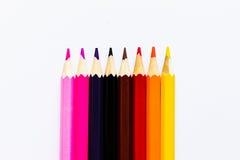 Os lápis aquecem a máscara Imagens de Stock Royalty Free