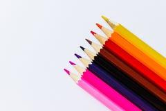 Os lápis aquecem a máscara Fotos de Stock