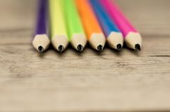 Os lápis coloridos fecham-se acima Fotos de Stock