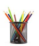 Os lápis coloridos podem dentro Fotografia de Stock