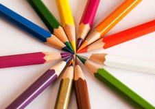 Os lápis da cor fecham-se acima Fotografia de Stock