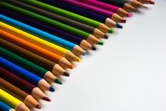 Os lápis da cor isolados no fundo branco Foto de Stock Royalty Free