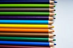 Os lápis da cor isolados no fundo branco Fotografia de Stock