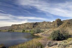 Os lagos Sun secam o parque estadual das quedas, Washington State foto de stock royalty free
