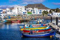 Os las de Puerto de nieves Gran Canaria imagem de stock