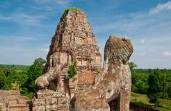 Os leões pre do templo de Rup, Cambodia Fotos de Stock