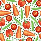 Os legumes misturados modelam sem emenda Foto de Stock