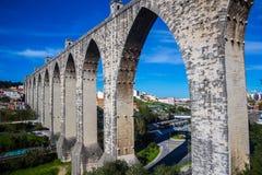 Os Livres das águas do aqueduto em Lisboa Imagens de Stock Royalty Free