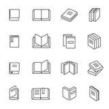 Os livros diluem a linha vetor dos ícones ilustração stock
