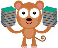 Os livros do macaco Imagens de Stock