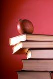 Os livros do vermelho Fotos de Stock Royalty Free