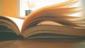 Os livros estão abertos na tabela Fotografia de Stock