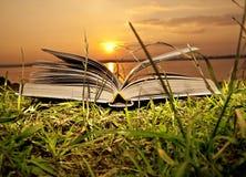 os livros mágicos do sol Fotos de Stock Royalty Free