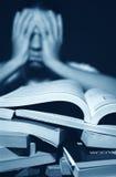 Os livros podem ser Overshelming Fotos de Stock Royalty Free