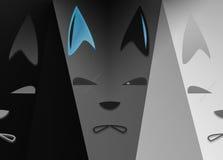 Os lobos triplos Imagens de Stock Royalty Free