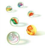 Os mármores de vidro ajustaram 2 Imagem de Stock Royalty Free