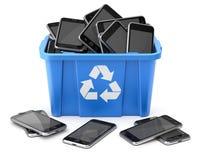 Os móbeis no azul reciclam a caixa ilustração royalty free
