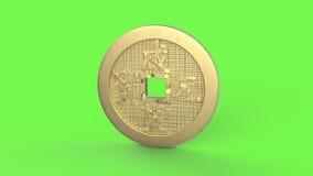 Os módulos do laço da moeda de China para editam com resíduo metálico alfa vídeos de arquivo