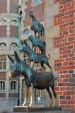 Os músicos da cidade de Brema, Brema, Alemanha Imagens de Stock Royalty Free