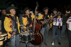 Os músicos mexicanos chamaram o mariachi fotos de stock royalty free
