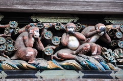 Os 3 macacos de Nikko imagens de stock royalty free