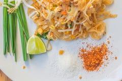 Os macarronetes acolchoam tailandês Foto de Stock Royalty Free