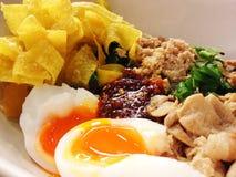 Os macarronetes, sopa, alimento picante, comem Imagens de Stock
