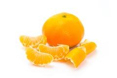 Os mandarino inteiros e cortados Imagem de Stock Royalty Free