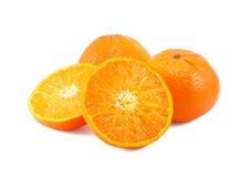 Os mandarino isolados no branco Foto de Stock Royalty Free