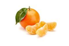 Os mandarino no fundo branco Imagens de Stock